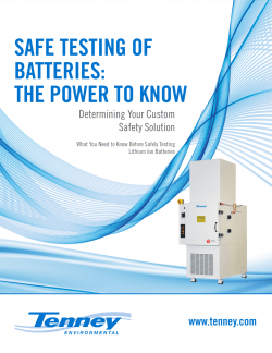 SafeTest™ Battery Test Chambers